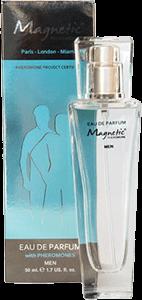 кутия и бутилка от парфюм с феромони Магнетик